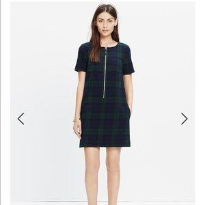 Dark Plaid Zip Dress
